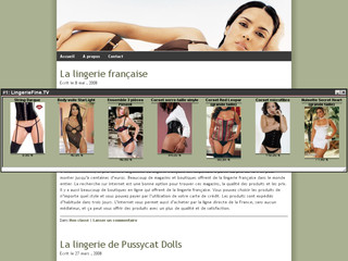 La lingerie feminine