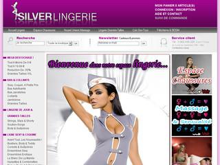 Silver lingerie