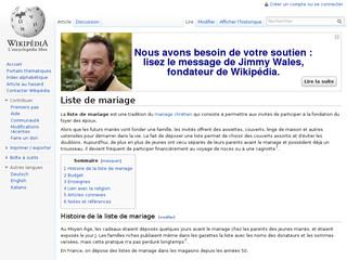 Liste de mariage - Wikipédia