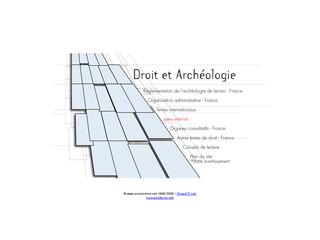 Droit et Archéologie