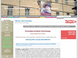 Master d'Archéologie Montpellier