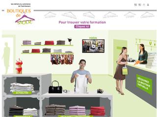 Métiers Commerce Habillement