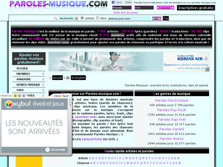 Paroles Musique