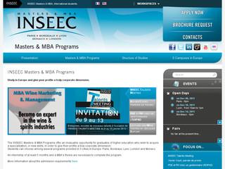 Masters et MBA INSEEC