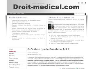 Droit médical/Santé