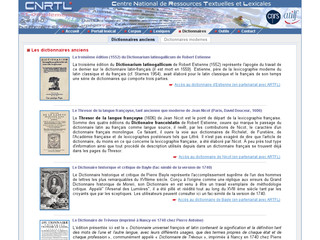 CNRTL Dictionnaires anciens