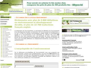 Dictionnaire Environnement