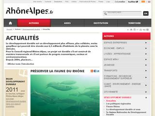 Développement durable Rhône-Alpes
