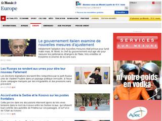 Europe LeMonde .fr
