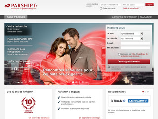 Site de rencontre Parship - Srieux, simple et sr