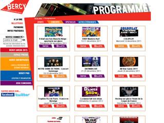 Bercy programmation d'événements au Palais Omnisports de Paris