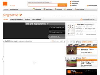 prog télé orange