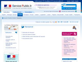 Naissance Service-public .fr