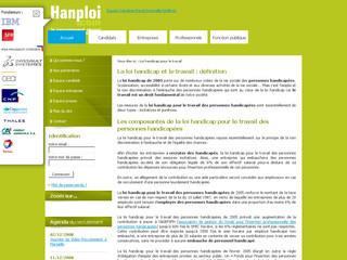 Loi handicap travail Hanploi .com