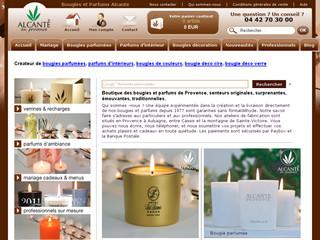 Bougies personnalisées alcante