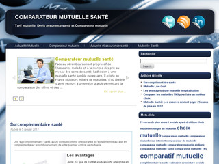 Comparateur mutuelles sante