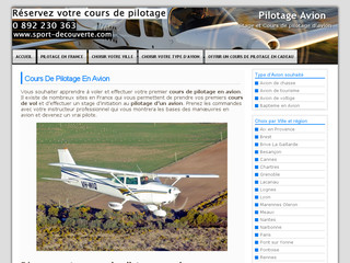Cours de pilotage avion